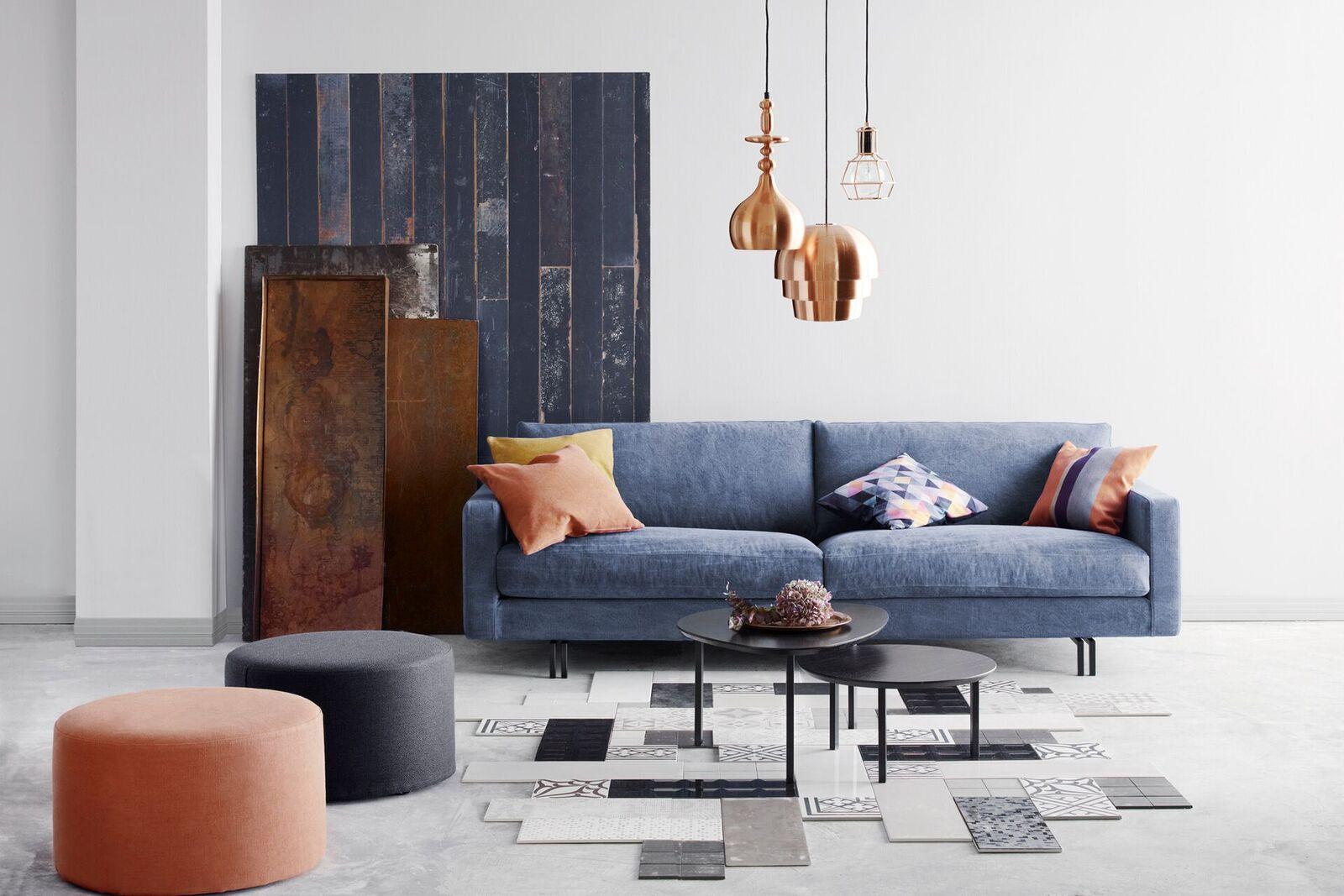 Blues 3-sits soffa