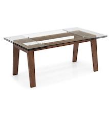 Maestro matbord – Transparent, valnöt