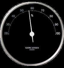 Henning Koppel Hygrometer 10cm Svart/ Stål