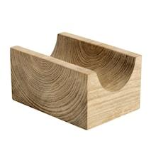 Korvhållare Singel Återvunnen Teak 7x5x10 cm