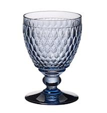 Boston coloured Vattenglas Blå