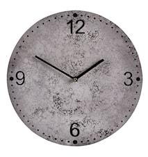 Klocka Grå7Svart 35,5 cm