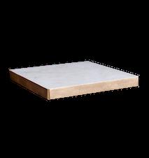 Ekeberg Bricka Vit marmor/Guld 20x20 cm