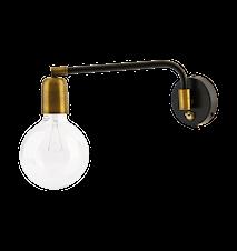 Vägglampa Molecular 22x36 cm - Svart/mässing