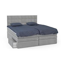 Opal seng med oppbevaring + hodegavl