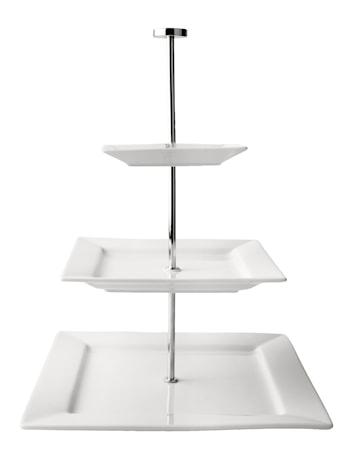 Galzone Kakkuvati 3 kerrosta neliö Porsliini 35 cm