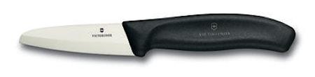 Skalkniv, keramisk, vit, 8 cm, presentask