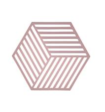 Grytunderlägg Hexagon Silikon Rosa 14 cm