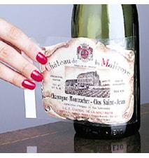 Labeloff- för att ta av dina vinetiketter