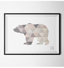 Nordic bear light poster
