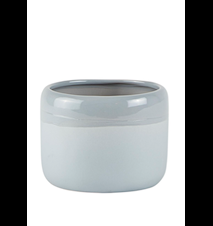 Blomkruka Keramik Ljusgrå D 11cm H 8,5cm