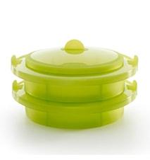 Ångkoksinsats silikon grön Lékué