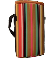 Duo stripe- Isolerad väska för två flaskor