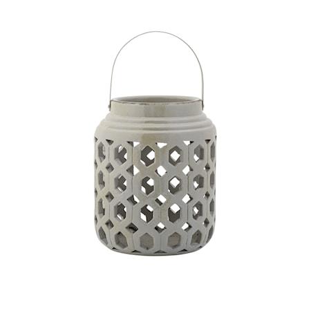 Bild av Bloomingville Lanterna Grå Keramik 20x25cm