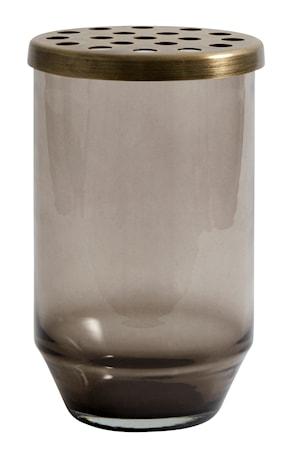 Bild av Nordal Glasvas metallock 15 cm