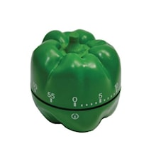 Köksklocka Paprika Grön