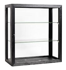 Wooden wall cabinet - svart