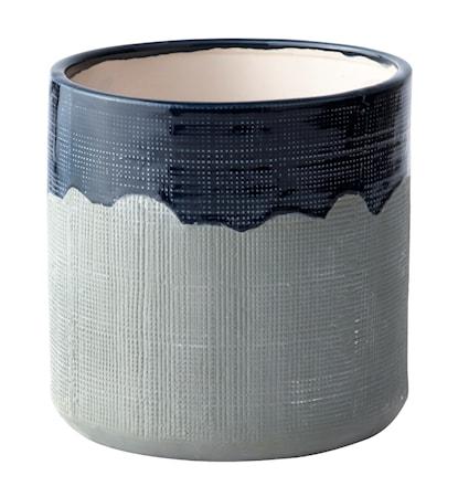 Bild av KJ Collection Kruka Keramik Blå/Grå 15 cm
