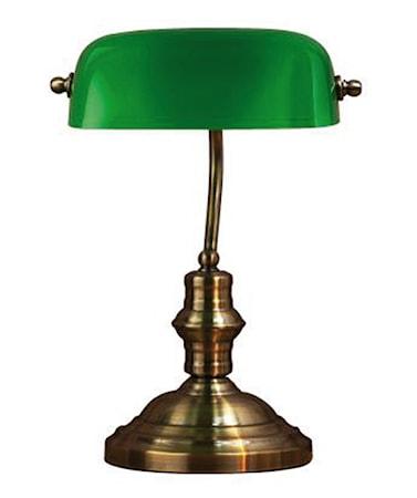 Bankers Bordlampe Grøn 42 cm