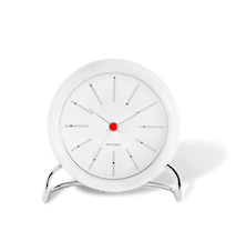 Arne Jacobsen Bankers bordsur, vit/vit, Ø 11 cm, alarmfunktion
