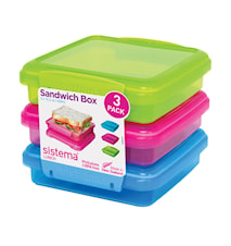 Lunch 2016 450ml Sandwich  3 Pack Coloured