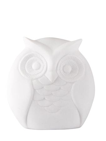 Figur Keramik Uggla Vit 12 cm