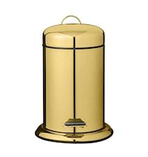 Papperskorg Guld Metall 22x29,5cm