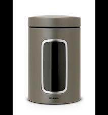 Förvaringsburk med fönster 1.4 Ltr Platinum