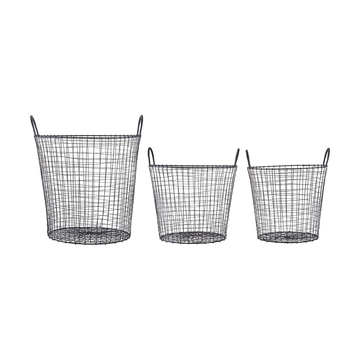 Wire Korg Svart 3-pack