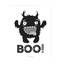 Plakat Monster Svart Papir 40x30cm