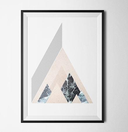 Bild av Konstgaraget Level of marble peaks poster