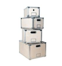 4-i-1 Förvaringsbox Trä