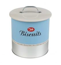Kakburk Biscuit Barrell blå/vit