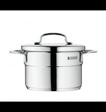 Mini Cook gryta stål med lock 1L