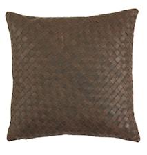 Pure leather Kuddfodral 45x45 - Mörk brun
