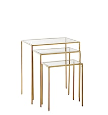 Console Table, clear glass