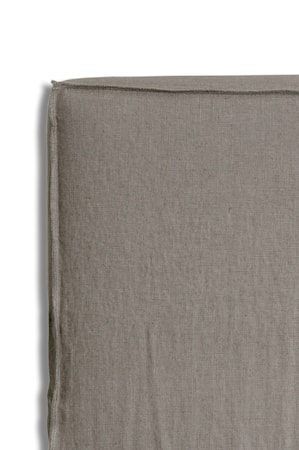 Sänggavel m. Klädsel Mira Loose-fit stone 160x140