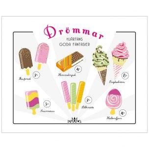 Drömmar - Glassplakat Poster