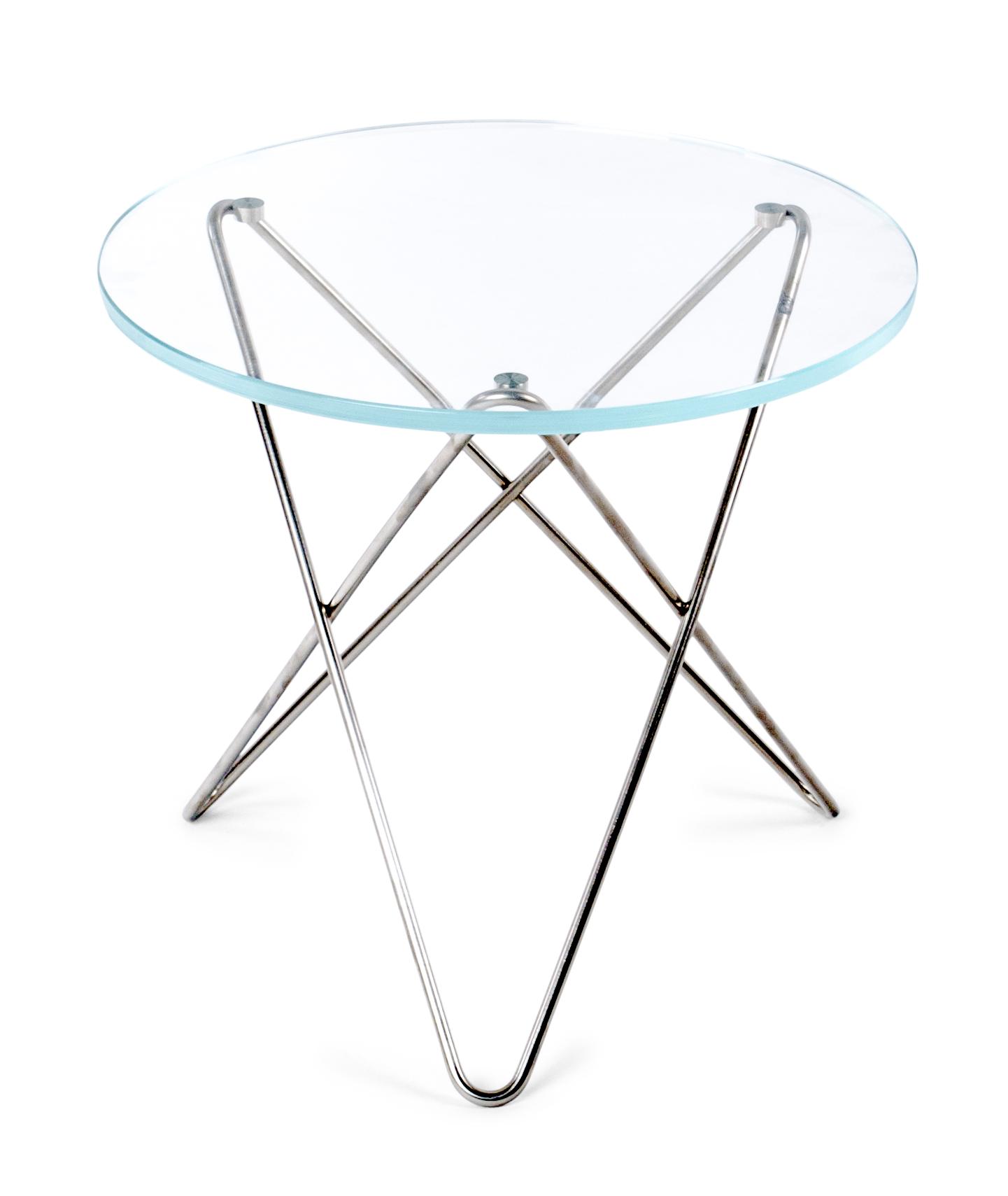 Mini O-table glass sidobord