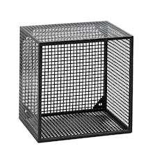 Wire vegghylle kvadratisk - Svart