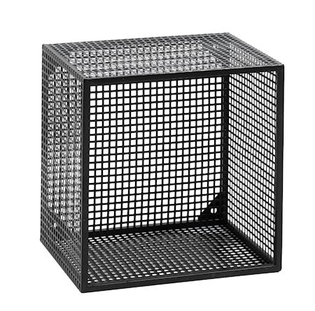 Wire Vägghylla kvadratisk - Svart