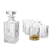 Vide Whiskykaraffel med 6 st glass