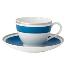 Anmut My Col.Petrol Blue Kaffekopp&Fat 2 delar