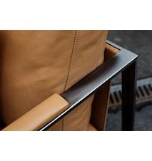 Monaco Lounge Soffa - 2-sits, svart ram