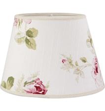 Oval Lampskärm Ros 30 cm
