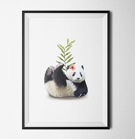 Bild av Konstgaraget Panda flower poster