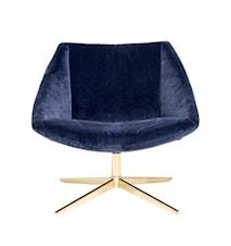 Elegant Stol Blå Polyester 77x73x76cm