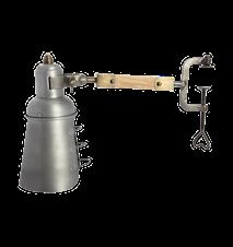 Lampa Basic Ø 12x27x19 cm - Aluminium/Trä