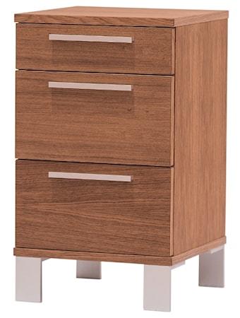 Bild av Zebra collection Alba 3 lådor sängbord