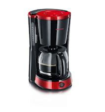 Kaffebryggare Svart/Röd-metallic